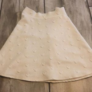 Cream colored Mickey Mouse skater skirt